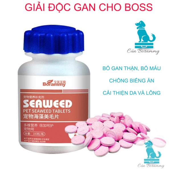 Giải độc gan, thận, bổ máu đẹp lông cho chó mèo Borammy 180v - Viên nén dễ ăn bổ sung vitamin giúp tăng trưởng và tăng sức đề kháng cho thú cưng