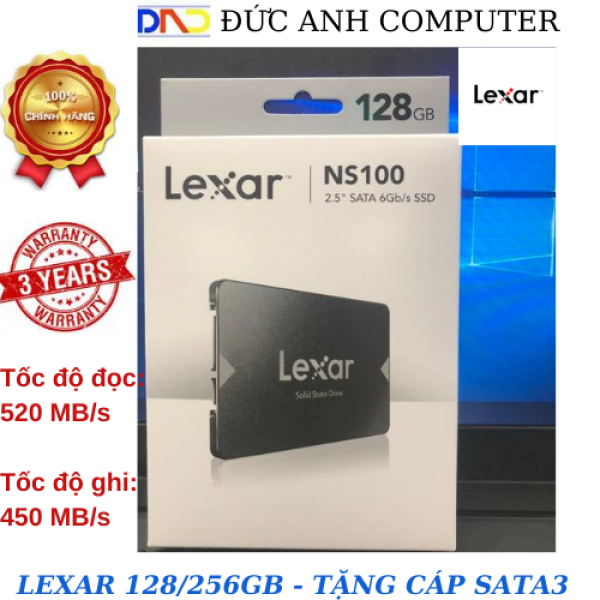Bảng giá SSD 128GB/256GB Lexar NS100 2.5-Inch SATA III - Hàng Chính Hãng Phong Vũ