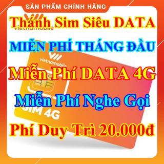 Thánh Sim Siêu Data 4G - Miễn Phí DATA 4G - Miễn phí tháng đầu tiên - Miễn Phí Gọi Nội Mạng - Phí Duy Trì 20.000đ - Shop Lotus Sim Giá Rẻ thumbnail