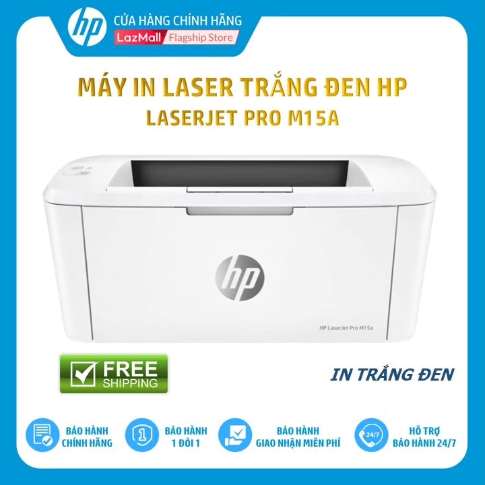 [Voucher 100K] - Máy in laser trắng đen đơn năng HP LaserJet Pro M15a (In/Trắng-W2G50A) công suất in 1000 trang/tháng - Hàng Chính Hãng