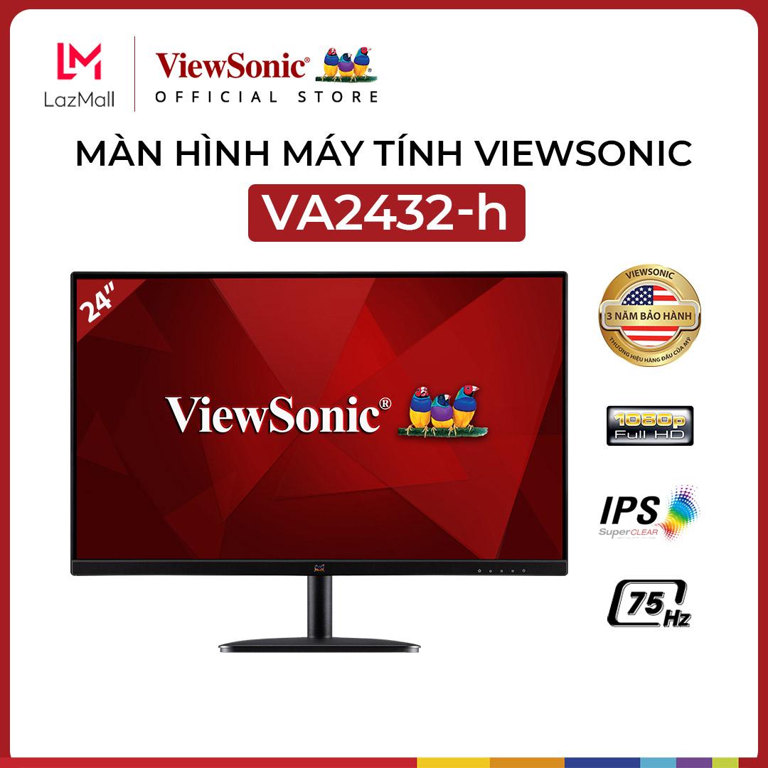 Màn Hình Máy Tính ViewSonic VA2432-h | 24 inch | Full HD | IPS | 75hz | 4ms | HDMI + VGA