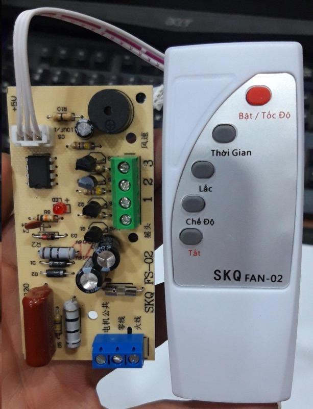 Bộ mạch và điều khiển từ xa biến quạt thường thành quạt điều khiển từ xa BẢN TIẾNG VIỆT DỄ SỬ DỤNG mạch quạt điều khiển từ xa quạt điều khiển từ xa điều khiển từ xa cho quạt mạch quạt mạch điề khiển quạt