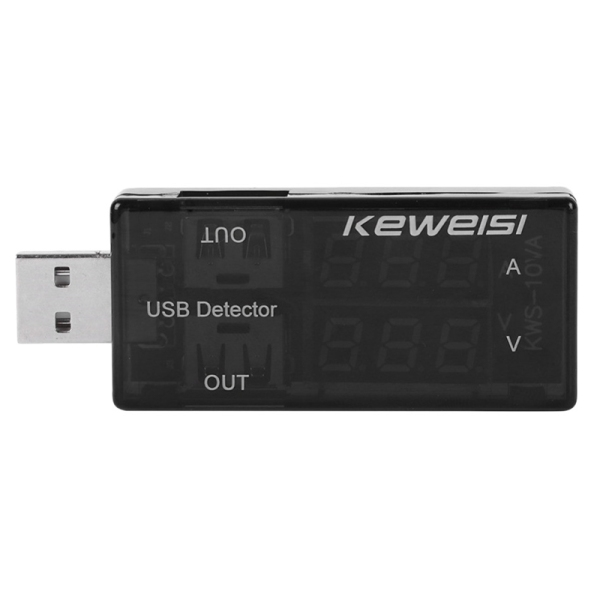 Giá KEWEISI USB Current and Voltage Tester USB Voltage and Ammeter Dual Meter Display Test Instrument