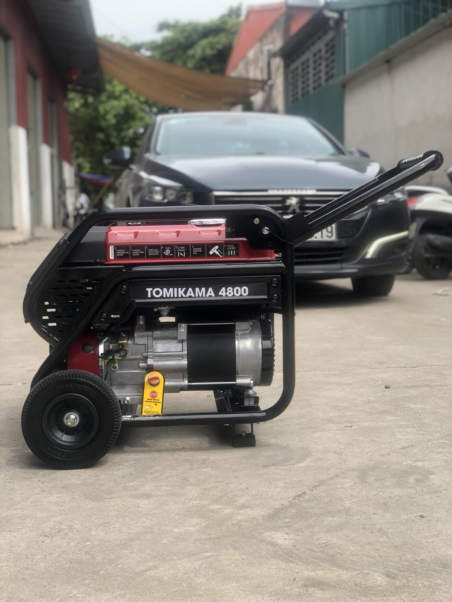 Máy phát điện chạy xăng Tomikama 4800 công suất 3.5kw đề nổ