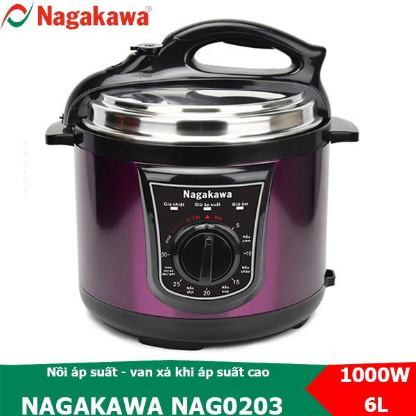Nồi áp suất đa năng nắp rời 6L Nagakawa NAG0203 van tự xả khi áp suất cao
