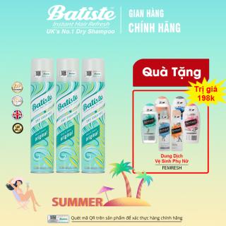 [COMBO - QÙA TẶNG] Mua 3 chai cùng loại Dầu Gội Khô Batiste Dry Shampoo (200ml) - Tặng Dung dịch vệ sinh phụ nữ Femfresh thumbnail