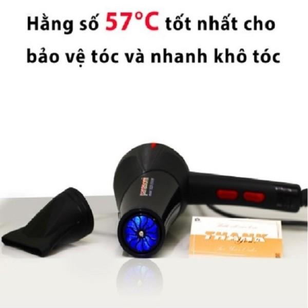 Máy sấy tóc 2 chiều Panasoni công suất 3500W có ánh sáng xanh kháng khuẩn - May say toc có đèn 3500W
