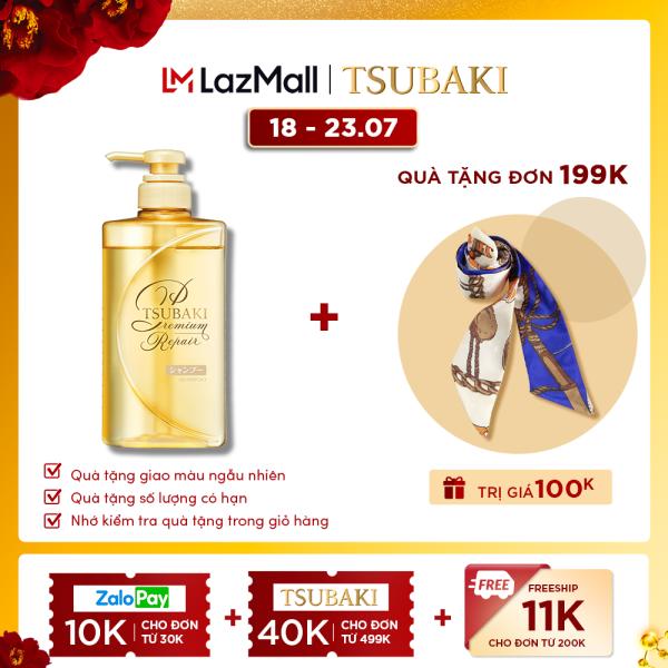 Dầu gội phục hồi hư tổn ngăn rụng tóc Tsubaki premium repair shampoo 490ml nhập khẩu