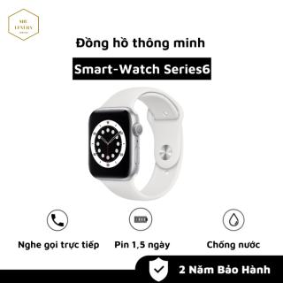 [ FREE SHIP ] Đồng Hồ Thông Minh Smart Watch Series 6 Viền Nhôm Dây Cao Su Nghe Gọi Trực Tiếp Đọc Tin Nhắn, Đo Nhịp Tim và Calo Đếm Bước Nhảy, Chống Nước, Pin Khỏe 1 Ngày, Dùng Được Cho Iphone, SamSung, Oppe, Xiaomi,.. thumbnail