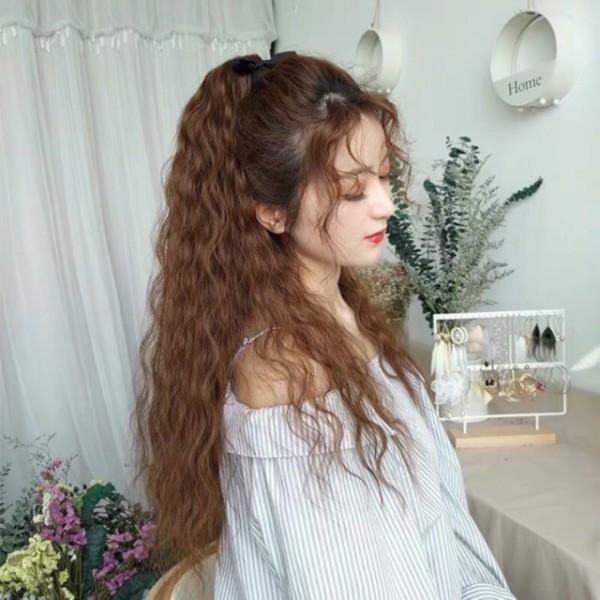 tóc giả cột xù 🎁 FREESHIP 🎁Tóc giả cột xù tơ cao cấp- kèm ảnh nhập khẩu