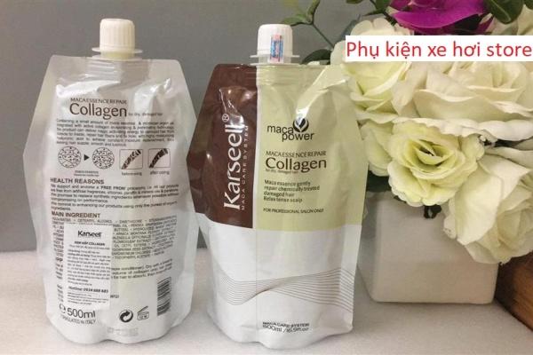 Combo 2 ủ tóc Krasell phục hồi tóc hư tổn nhanh chóng ,DẦU HẤP TÓC KARSEELL MACA COLLAGEN SIÊU MỀM MƯỢT TÓC 500ML ,Kem Ủ Hấp tóc collagen karsell 500ml ( hàng chuẩn)