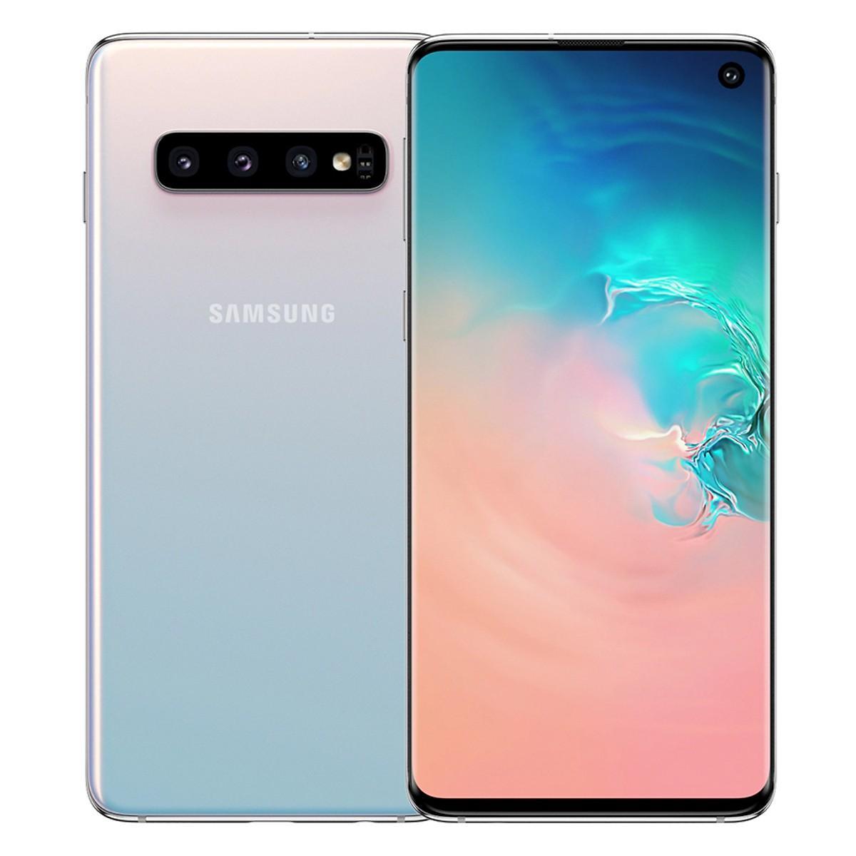 Điện Thoại Samsung Galaxy S10 (128GB/8GB)- Hàng Chính Hãng (Đã Kích Hoạt) Bảo Hành 12 Tháng - Trắng Pha Lê
