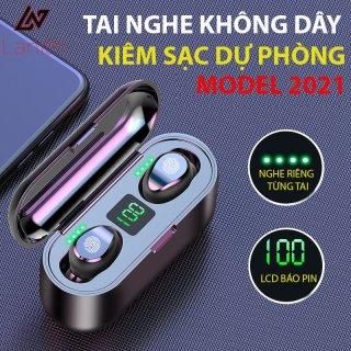 Tai nghe Bluetooth Lanith Viet Nam F9 nút cảm ứng Bluetooth 5.0 Pin 280 giờ tích hợp sạc dự phòng - TAI00002B thumbnail