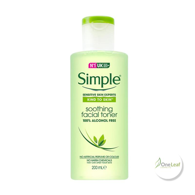 Nước hoa hồng Simple Kind To Skin Soothing Facial Toner 200ml OL098 cao cấp