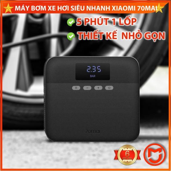 ✅[CHÍNH HÃNG]Máy bơm lốp ô tô mini Xiaomi, Máy bơm xe hơi mini 70Mai, Áp lực 11bar, bơm siêu nhanh.