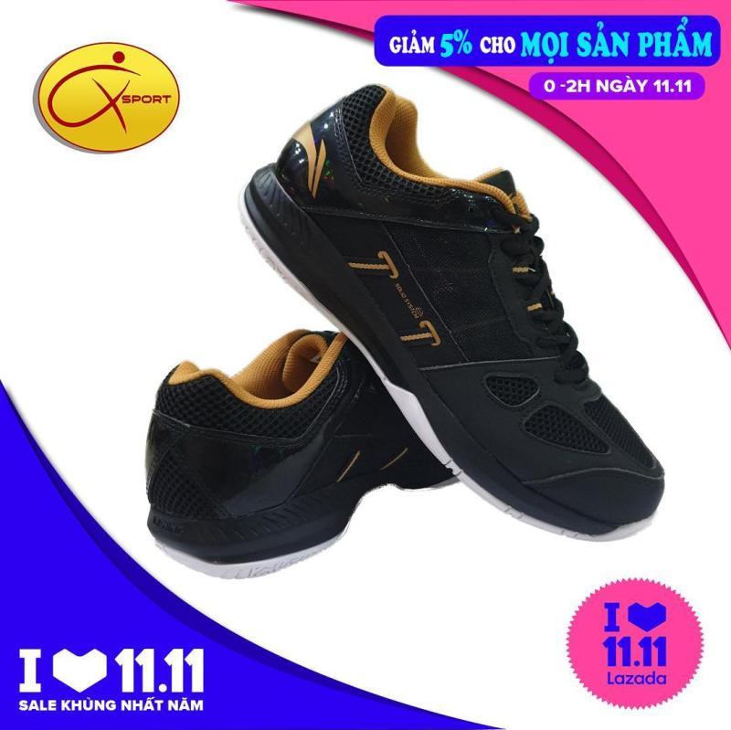 Giày Li-ning nam Giày cầu lông nam đế kếp chống trơn trượt ôm chân AYTN043-5V đen vàng