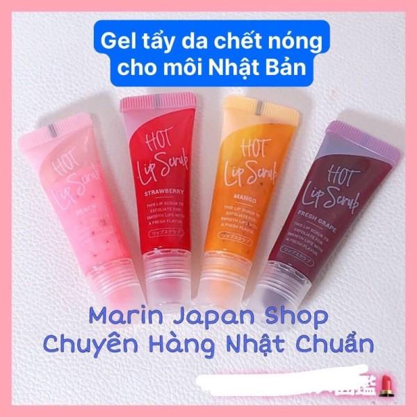 Tẩy chết cho môi nóng ấm lên Hot Lip Scrub Nhật Bản hương hoa quả xoài, dâu, đào tiên , nho dùng thích giá rẻ