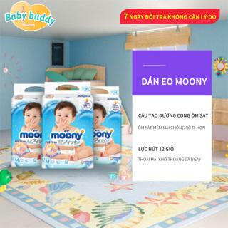 Tả dán Moony cao cấp đa dạng size S84 M64 L54, thương hiệu nhập khẩu nội địa Nhật chính hãng, tả bỉm Moony cho bé yêu thumbnail