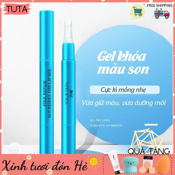 Gel khóa màu son môi Your Skin Lip Bee giúp giữ màu son bền màu không trôi không lem gel giữ son chính hãng nội địa Trung GEL-SON