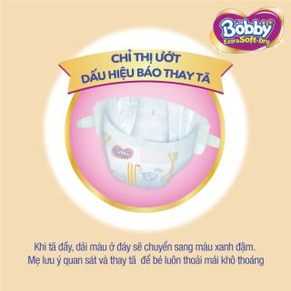 [QUÀ TẶNG KHÔNG BÁN] Hộp 2 miếng tã bỉm dán cao cấp Bobby Extra Soft Dry mă t bông siêu thâ m hu t (size M & size L) 5
