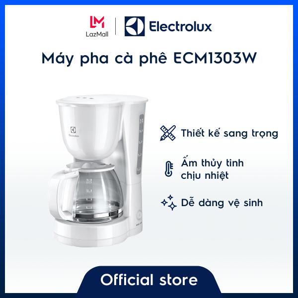 Bảng giá [Free shipping HCM & HN] Máy pha cà phê Electrolux ECM1303W – Trắng cổ điển – Thủy tinh chịu nhiệt - Hàng chính hãng, giá tốt Điện máy Pico