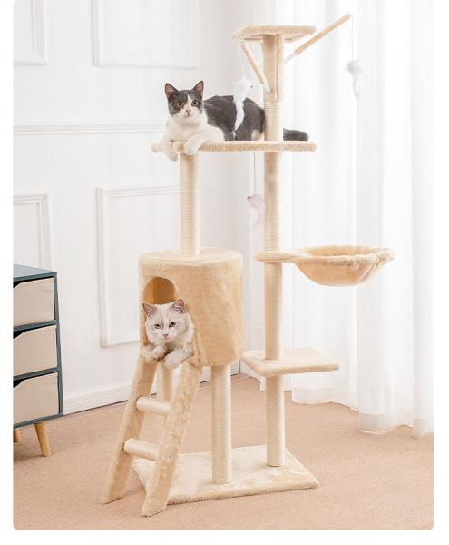 CATTREE Nhà Cây Cho Mèo, Trụ Cào Móng Cho Mèo 5 Tầng Có Võng Và Đồ Chơi Đi Kèm - DCCM72