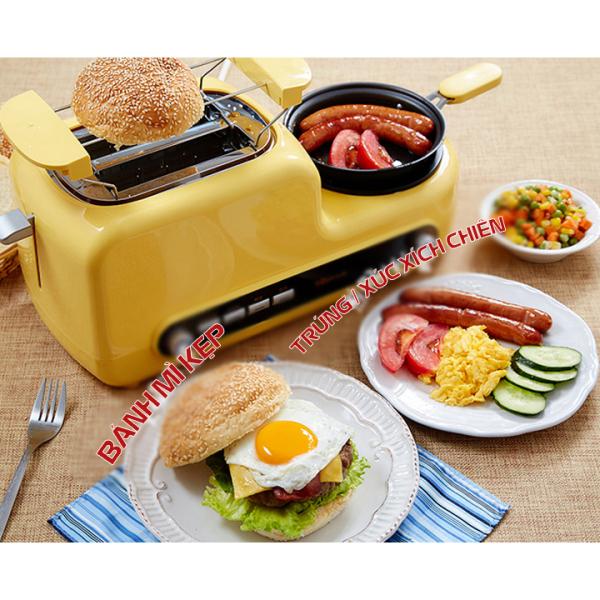 Máy nướng bánh mì đa năng hấp rán chiên nướng, lò nướng bánh mì sandwich chính hãng Bear - BH 12 tháng toàn quốc