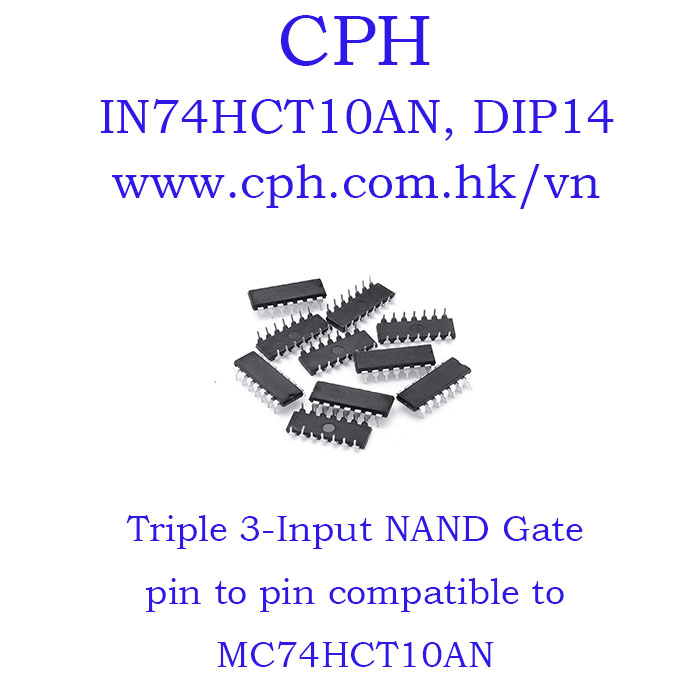 Giá 5pcs IN74HCT10AN IN74HCT10 74HCT10 MC74HCT10AN DIP14 IKSemicon Triple 3-Input NAND Gate.