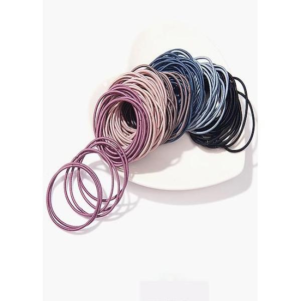 Set 50 thun cột tóc + túi zip giá rẻ