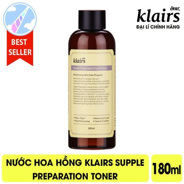 Nước Hoa Hồng Cấp Ẩm, Kháng Viêm Klairs Supple Preparation Toner 180ml - Facial - Có Mùi nhập khẩu