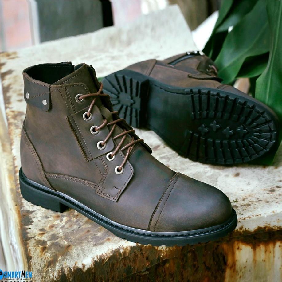 Coupon Ưu Đãi Boot Cao Cổ Da Bò SMARTMEN GD-466