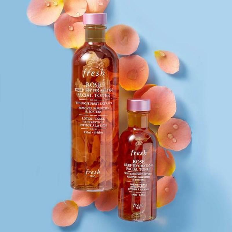 [Bản Us - 100ML / 250ML] Nước Cân Bằng Da Giữ Ẩm Chuyên Sâu - Fresh Rose Deep Hydration Facial Toner giá rẻ