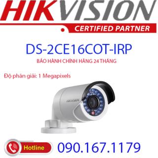 [HCM]Camera HD-TVI hồng ngoại 1.0 Megapixel HIKVISION DS-2CE16C0T-IRP thumbnail