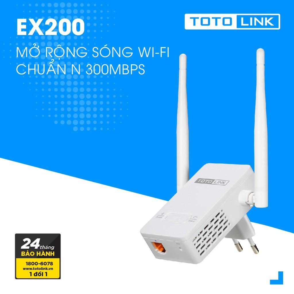 Mã Giảm Giá Bộ Mở Rộng Sóng Wifi Chuẩn N Tốc Độ 300Mbps Totolink EX200 - Hãng Phân Phối Chính Thức - Bảo Hành 2 Năm