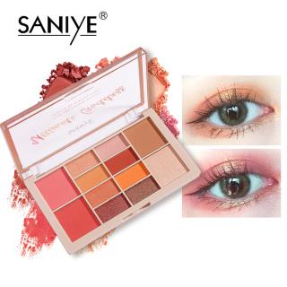 SANIYE Bảng màu mắt + phấn má hồng + phấn đánh khối 12 màu dành cho nữ E225 thumbnail