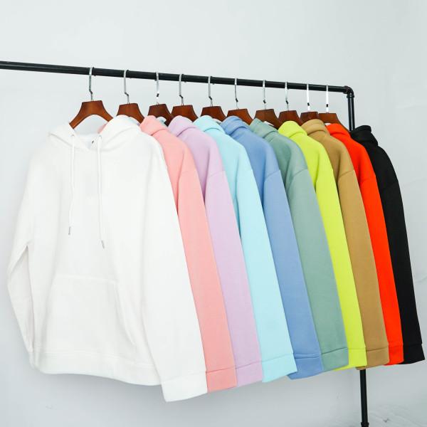 Áo mũ Hoodie Unisex N7 nỉ bông trơn basic cặp đôi nam nữ Oversize Ulzzang Hàn Quốc thu đông form rộng 10 màu
