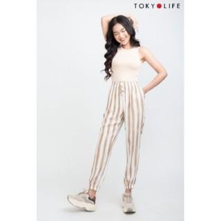 Quần lanh nữ TOKYOLIFE dài bo chun gấu I9PAN004G thumbnail