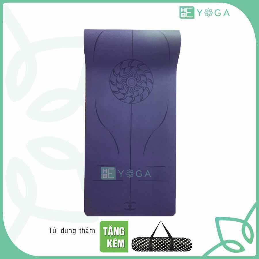 Bảng giá Thảm Tập Yoga Định Tuyến TPE 8mm 1 Lớp Cao Cấp Kèm Túi