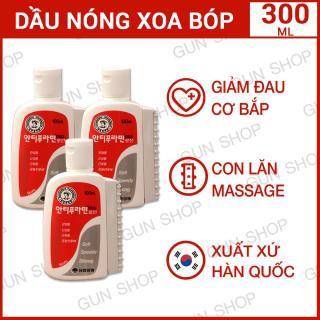 Bộ 3 Chai Dầu nóng Hàn Quốc Antiphlamine - Xoa bóp nhức mỏi - Tổng 3 chai 300ML - [GUNSHOP] thumbnail