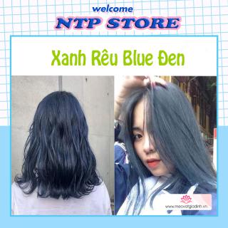 Kem nhuộm tóc xanh rêu blue đen(2 8) + tặng kèm oxy trợ nhuộmvà găng tay thumbnail
