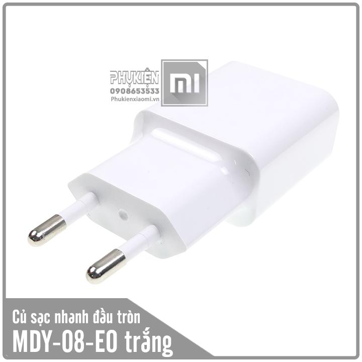 Củ sạc cho các dòng máy Xiaomi 5V/2A MDY-08-EO hai chấu tròn - Trắng