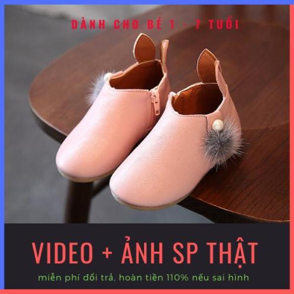 Giá bán [SALE 50%] Giày bốt bé gái tai thỏ dễ thương chất liệu da PU cao cấp cho bé 1-7 tuổi