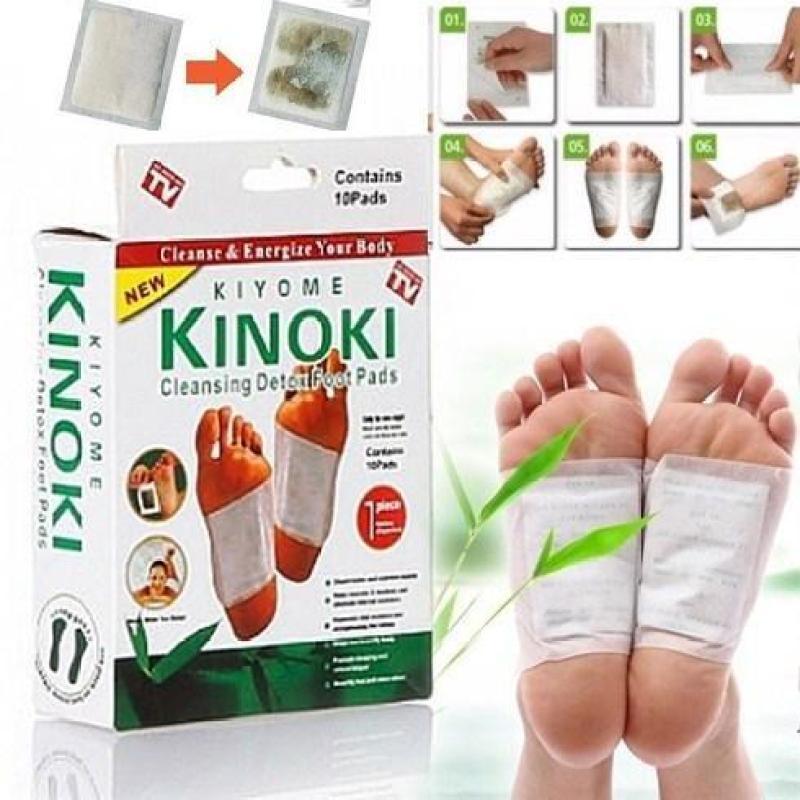 BỘ 100 Miếng dán chân giải độc massage chân Kinoki NHẬT BẢN (100 miếng/10 hộp) cao cấp
