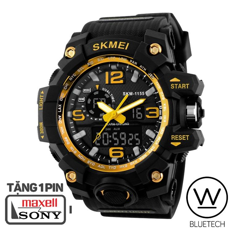 Đồng hồ nam SKMEI 1155 Thể Thao - Viền Vàng bán chạy