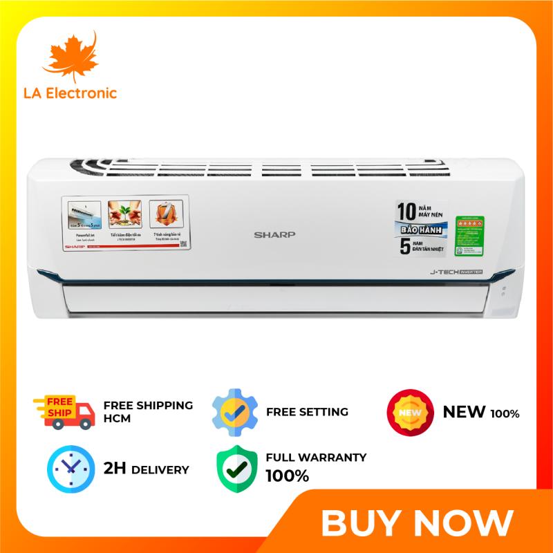 Trả Góp 0% - Máy lạnh - Sharp Inverter Air Conditioner 1 HP AH-X9XEW, thiết kế thông minh, công nghệ hiện đại, hoạt động mạnh mẽ và bền bỉ, có chế độ bảo hành và xuất xứ rõ ràng - Miễn phí vận chuyển HCM