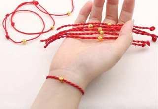 Vòng tay phong thủy, vòng tay phong thủy nam nữ, vòng tay sợi chỉ đỏ, vòng tay mang may mắn, sợi dây chắc chắn