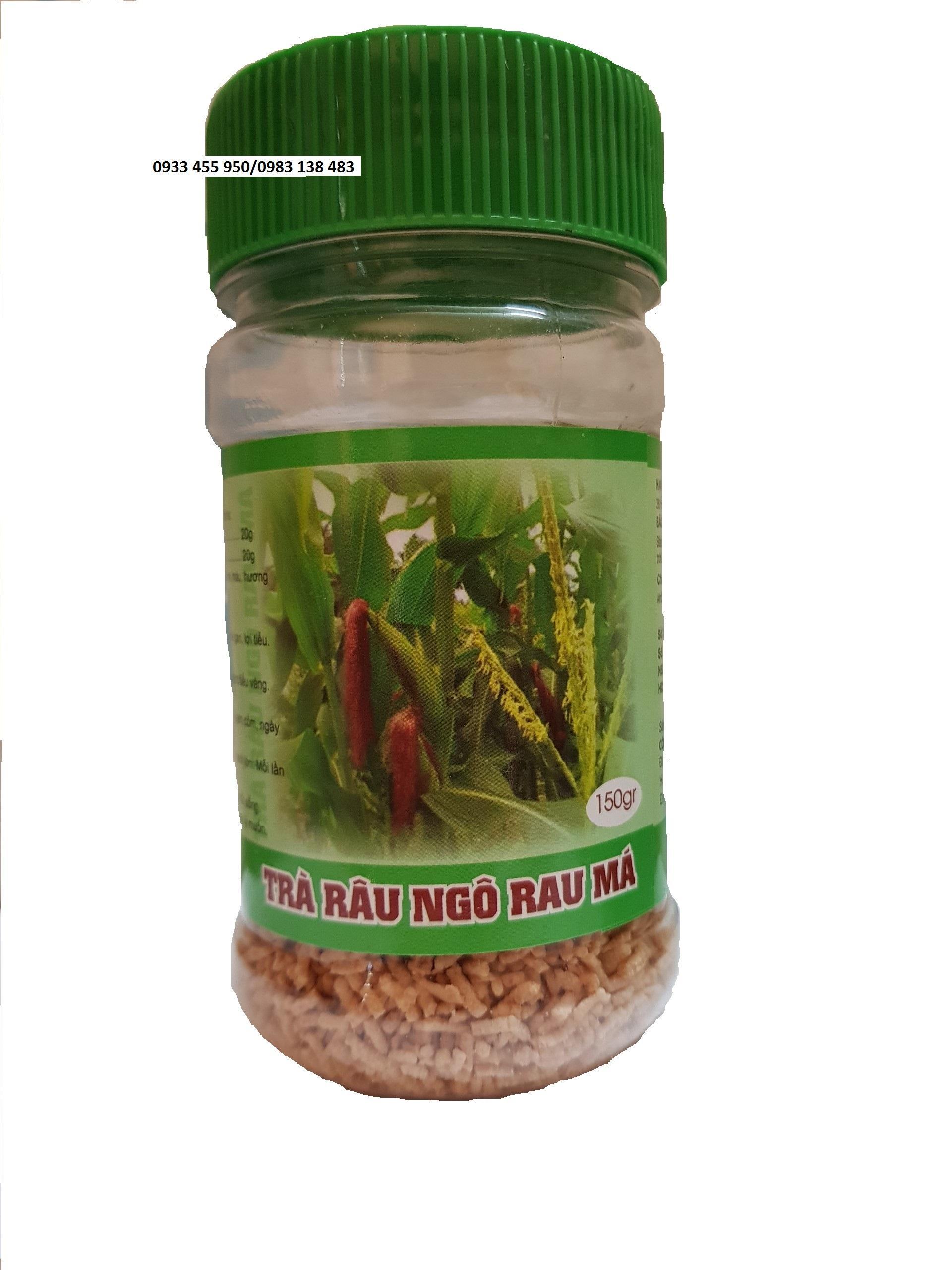 Combo 3 hộp Trà Râu Ngô Rau Má hộp 150gr_Giúp thanh nhiệt, giải độc, mát gan, lợi tiểu.