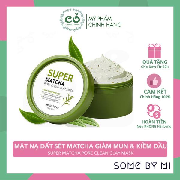 [HCM]Mặt Nạ Đất Sét Matcha Giảm Mụn Đầu Đen & Thu Nhỏ Lỗ Chân Lông Some By Mi Super Matcha Pore Clean Clay Mask 100g cao cấp