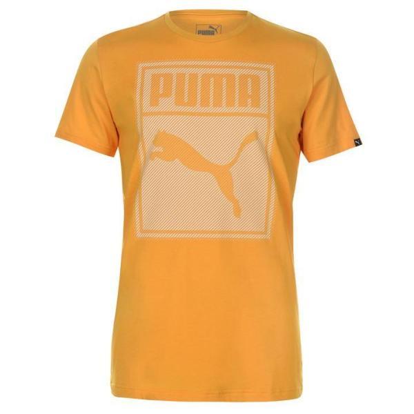 Áo thun thể thao nam Puma Box QT (màu Yellow) - Hàng chuẩn châu Âu