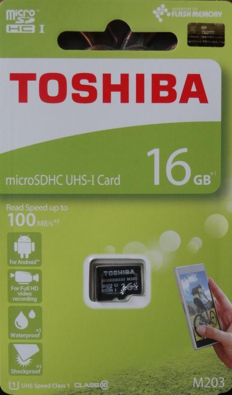 Thẻ nhớ microSD TOSHIBA 16Gb Class 10 - Sản xuất tại Taiwan - Công ty SYNNEX FPT nhập khẩu và phân phối
